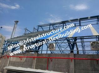 中国 構造スチールの倉庫の建設プロジェクトのために屋根を付ける製造された産業鋼鉄建築構造階段 サプライヤー