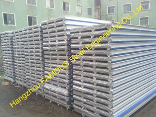 中国 鋼鉄建物の壁、屋根のクラッディングのための耐火性 EPS サンドイッチ パネル サプライヤー