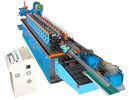 中国 Cr 12 の刃の油圧切断の 15KW 帽子チャネルの冷間圧延機械 工場