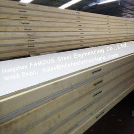 ポリスチレン冷却装置部屋は色の鋼鉄/ステンレス鋼の版の外面の42kg密度にパネルをはめます