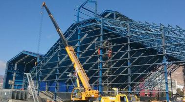 塗られる移動可能な産業鋼鉄建物の製作の耐火性